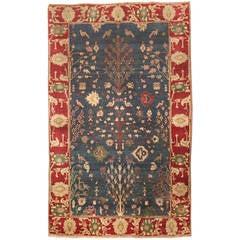 Antique 19th Century Indian Agra Rug