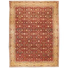 Antique Oversize 19th Century Indian Agra Carpet