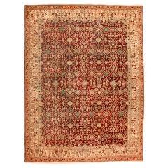 Antique 19th Century Indian Agra Carpet