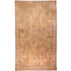 Exceptional Antique Oversize 19th Century Indian Carpet