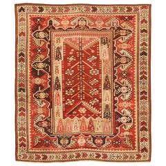 Antique 19th Century Turkish Melas Rug