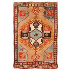 Antique Early 20th Century Turkish Karapinar Rug