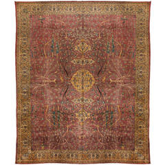 Antique Early 20th Century Indian Carpet