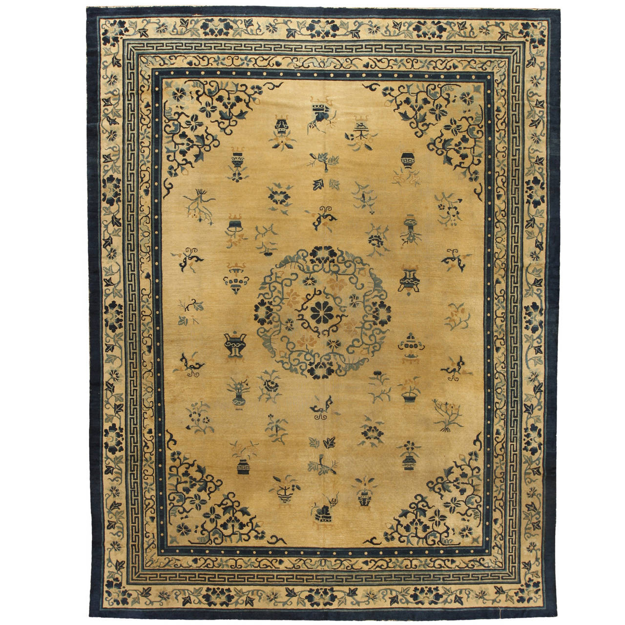 Antique Chinese Rug: Antique 19th Century Chinese Carpet For Sale At 1stdibs