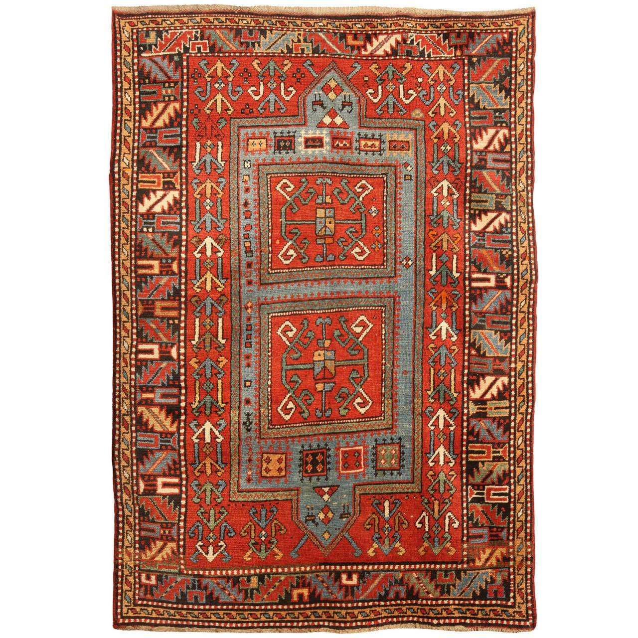Antique Caucasian Kazak Rug For Sale At 1stdibs