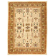 19th Century Indian Antique Amritsar Carpet