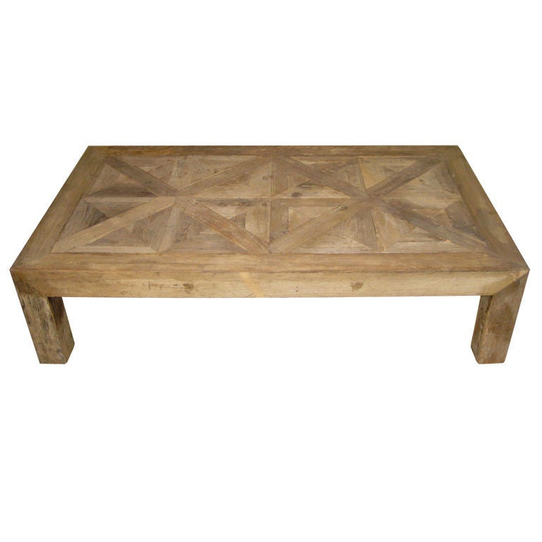 1980 39 S Belgian Bleached Parsons Coffee Table At 1stdibs