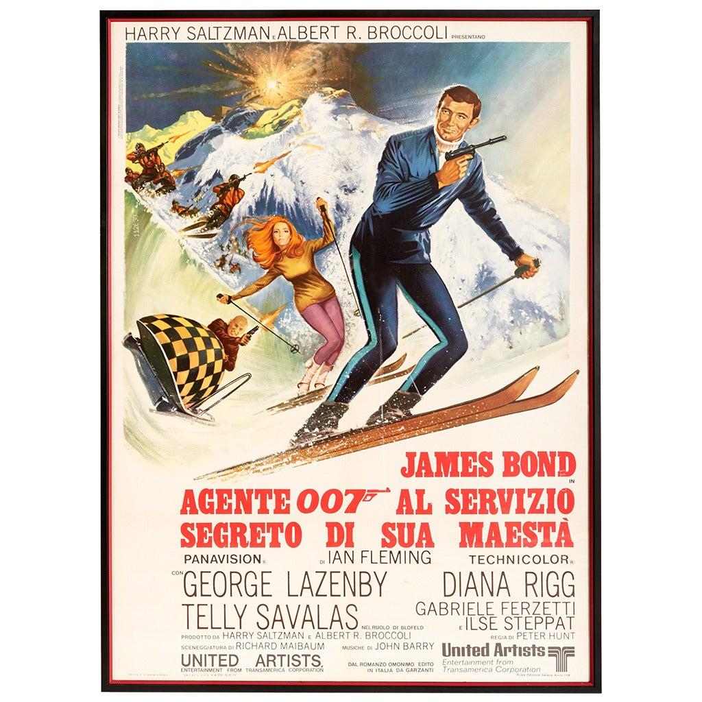 "Original 1969 Italian Movie Poster of, ""On Her Majesty's ..."