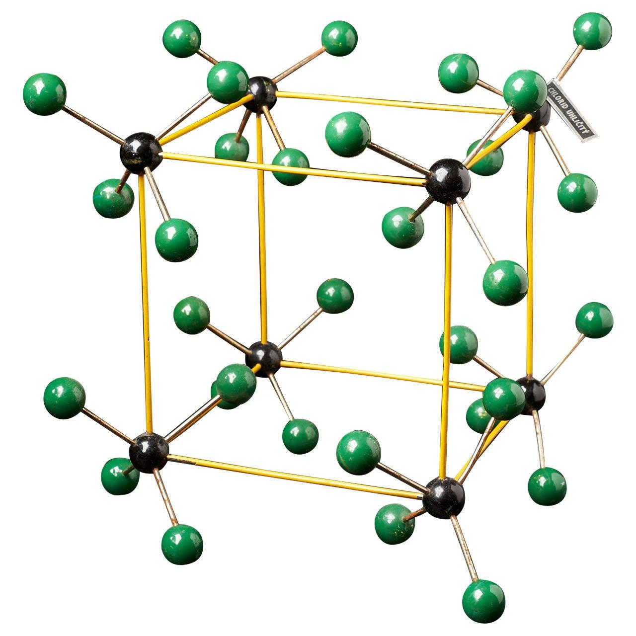 1950s Molecular Structure from Prague, Czech