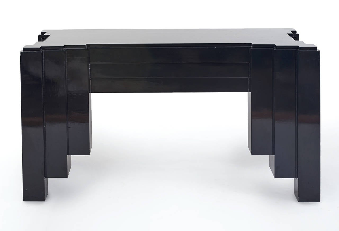 Mid-Century Modern 1930s Paul Frankl Inspired Skyscraper Console or Entry Table For Sale