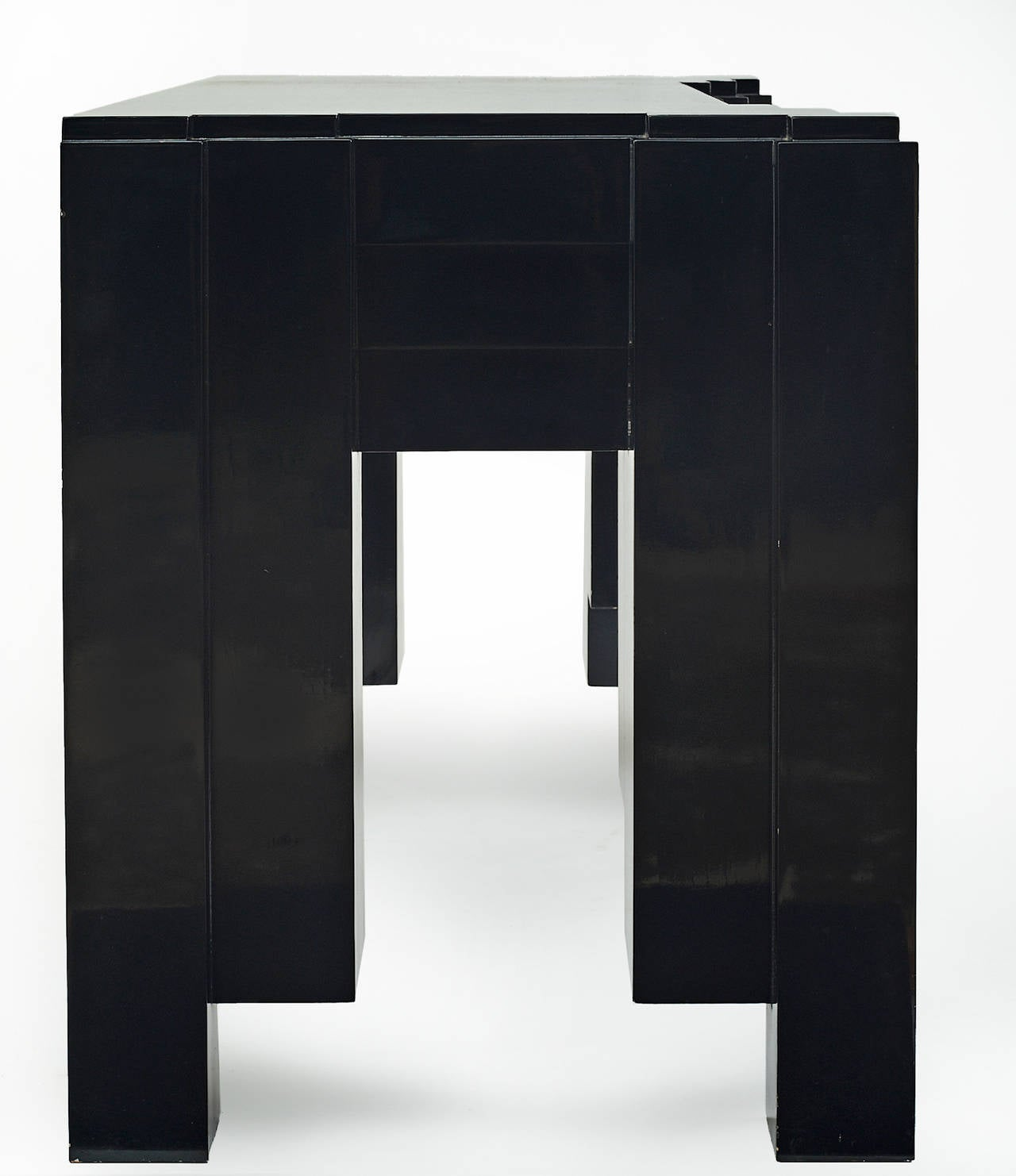 1930s Paul Frankl Inspired Skyscraper Console or Entry Table For Sale 2