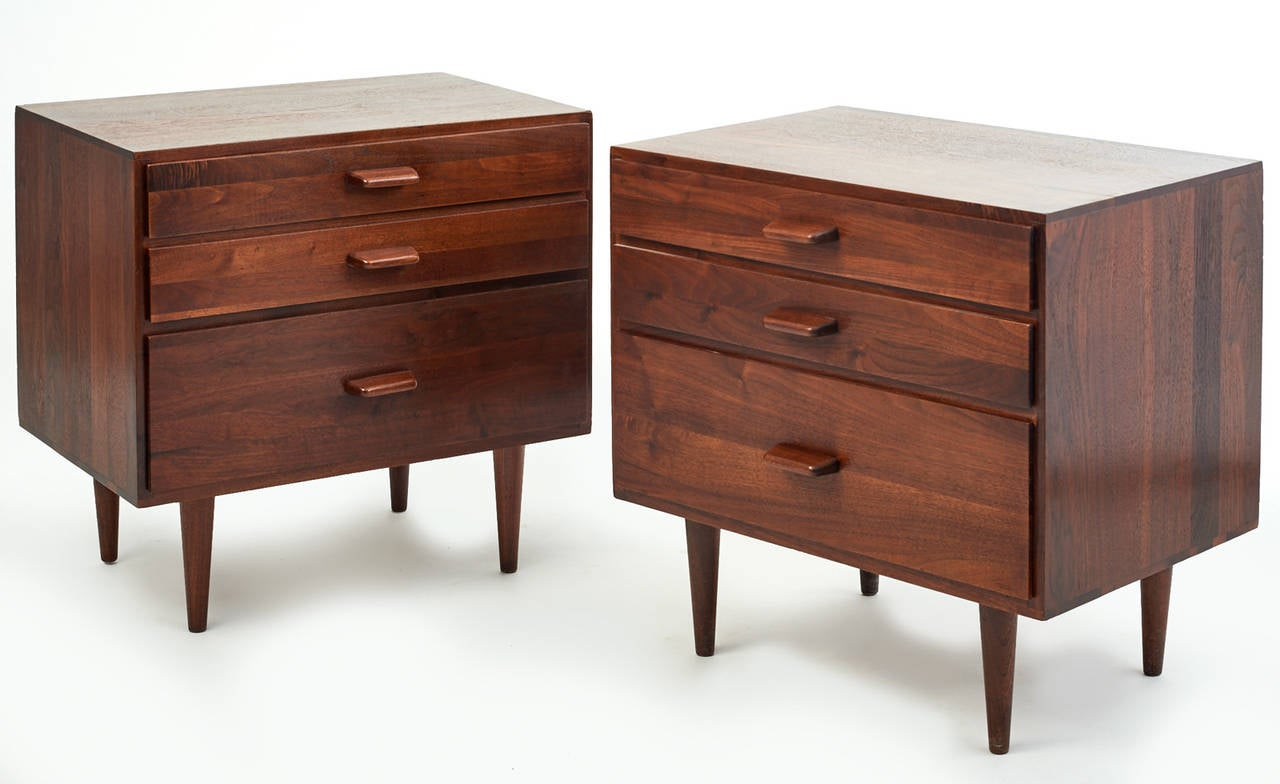 pictures of custom kitchen cabinets 1960s swedish walnut nightstands at 1stdibs 24670