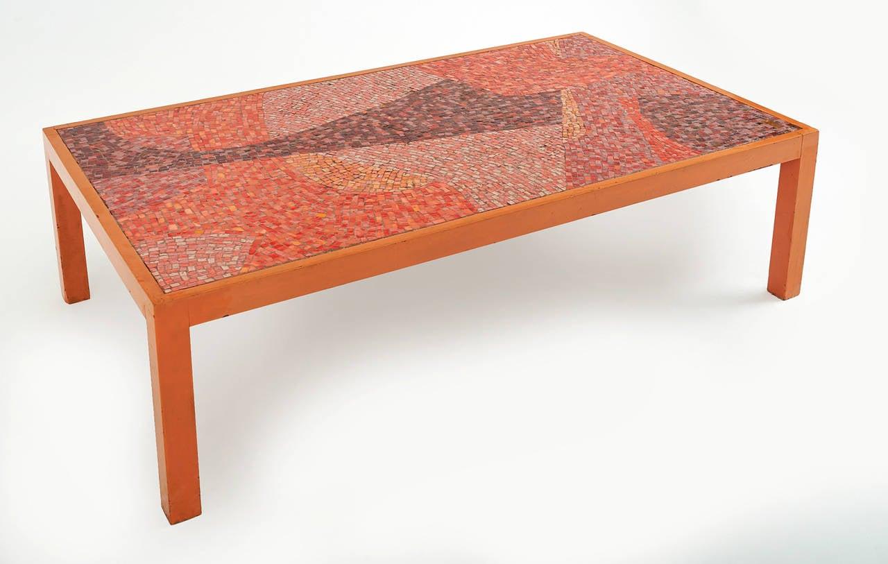 Mosaic Coffee Table By Graham Stewart Circa 1956 At 1stdibs