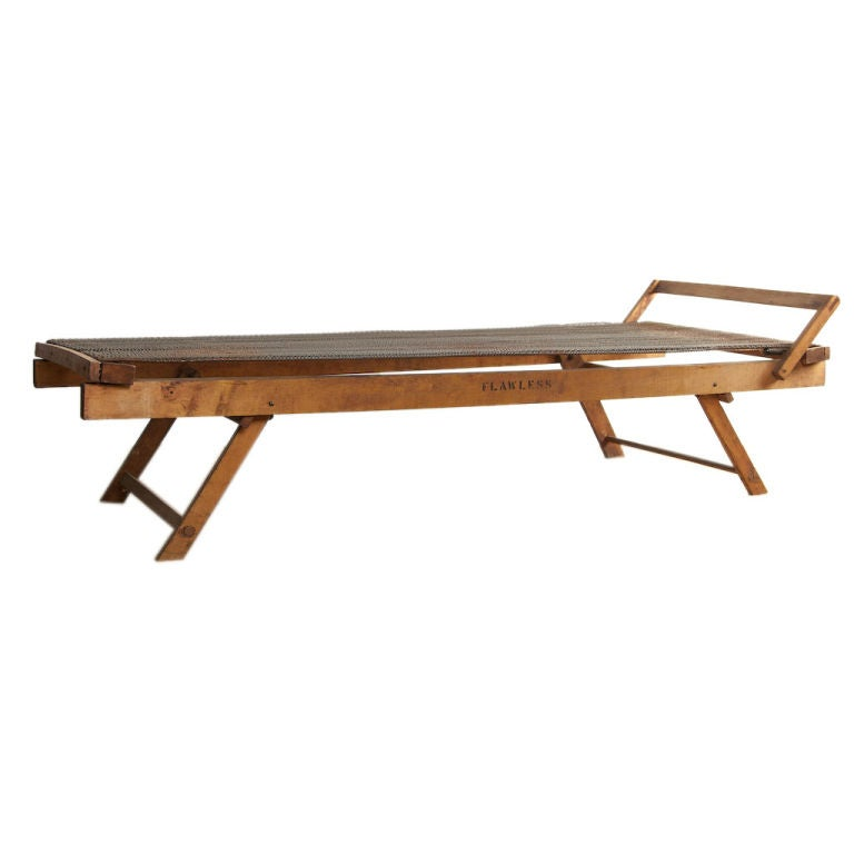 c1910 Wooden Folding Cot at 1stdibs
