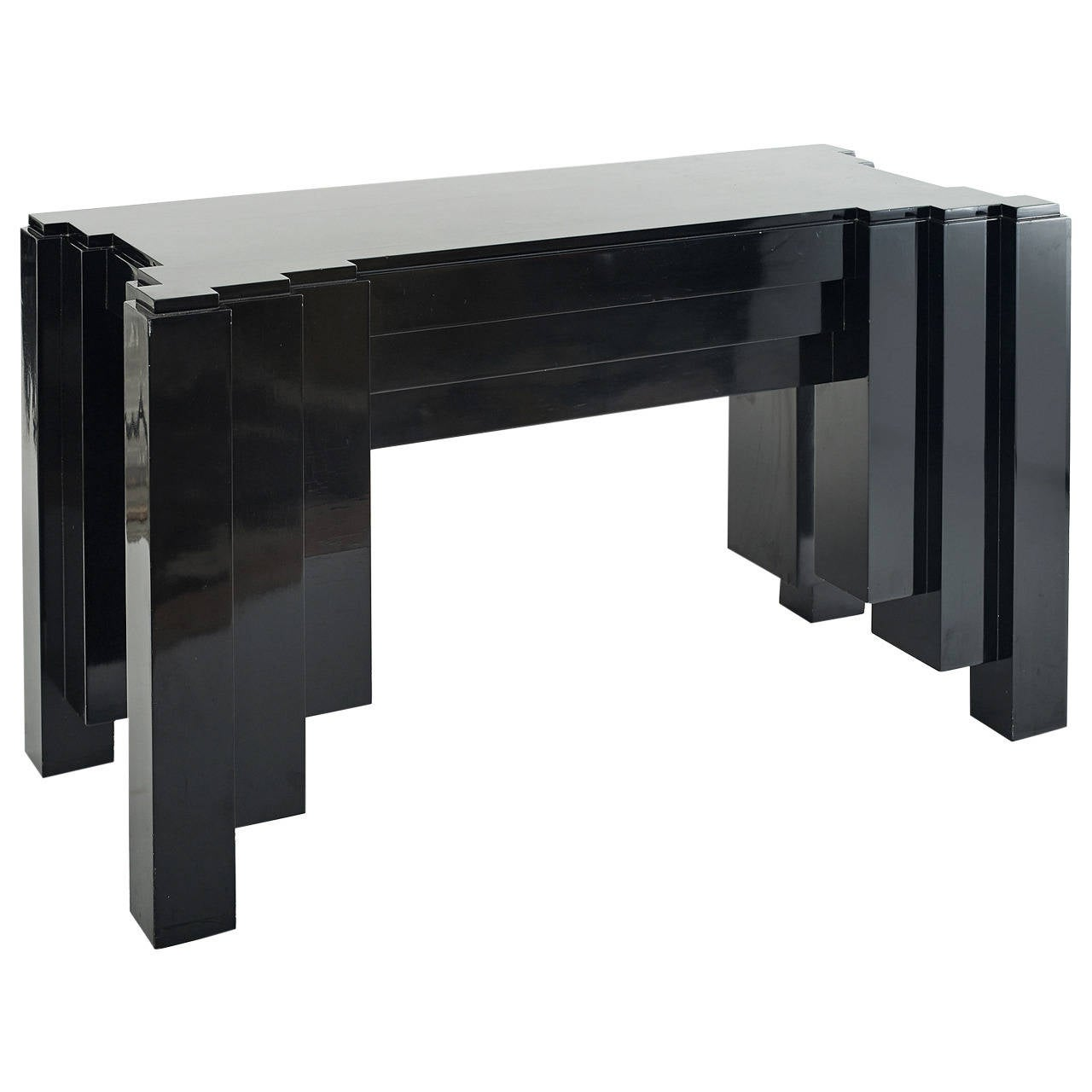1930s Paul Frankl Inspired Skyscraper Console or Entry Table