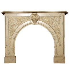 Faux-Marble Fireplace Mantel