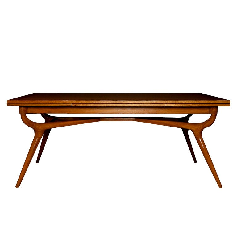 Dining Table In The Style Of Carlo Mollino At 1stdibs