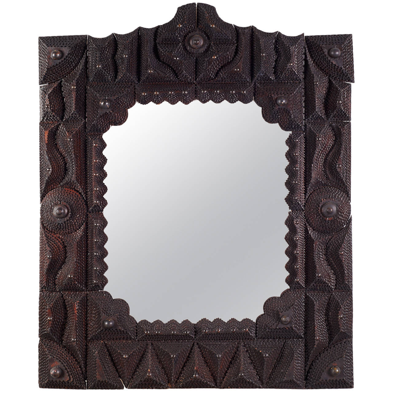 Large Early 20th Century American Tramp Art Frame at 1stdibs