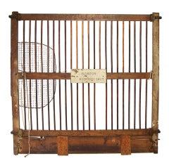 Salvaged Otis Elevator Lift Gate, dated Patent May 1904