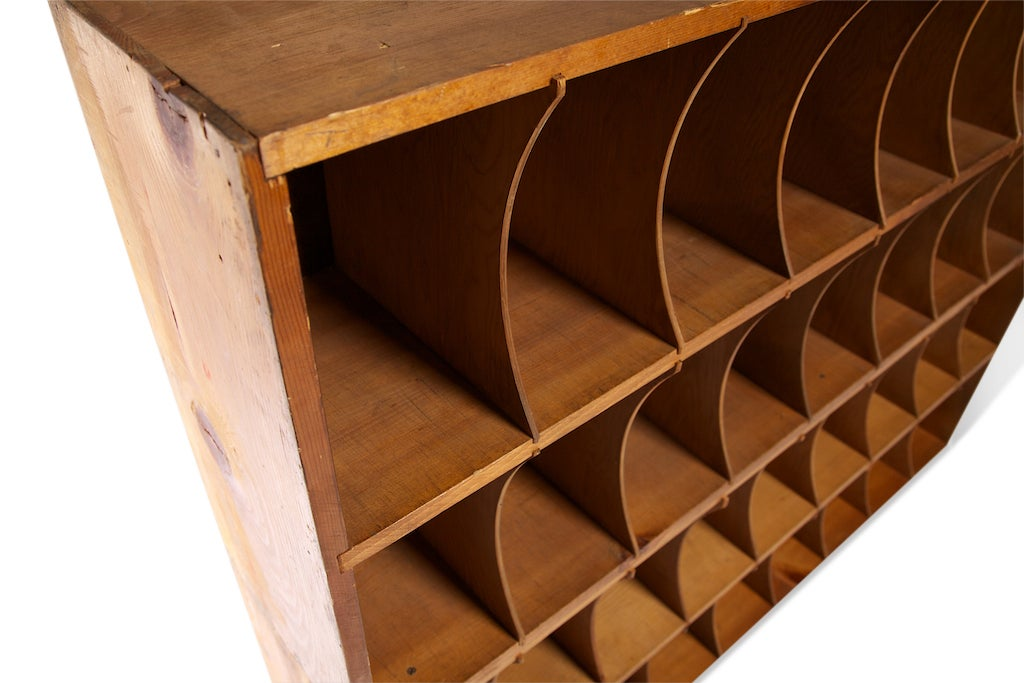 Used Metal Storage Cabinet >> Factory Mail Slot Cabinet at 1stdibs