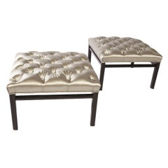Pair of Ottoman Stools in the style of Harvey Probber