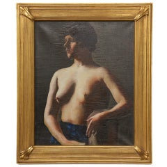 Nude Young Woman, Oil on Canvas by Alexander Brook, circa 1920s