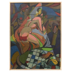 "Cubist ""Nightclub"" Painting"