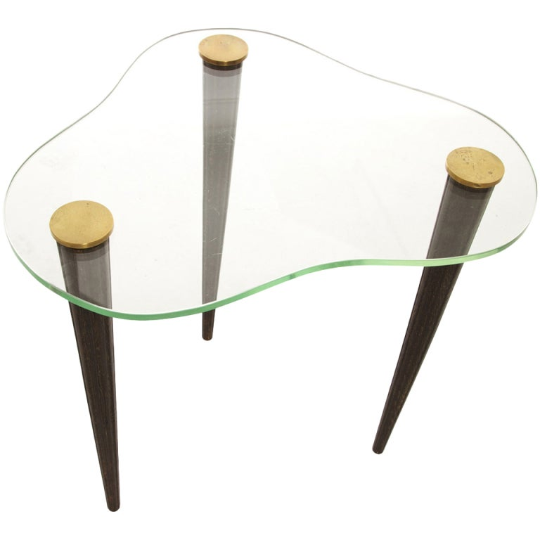 1950s Kidney-Shaped Occasional Table in the Style of Gilbert Rohde