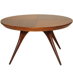 Rare Vladimir Kagan Dining Table with Two Leaves