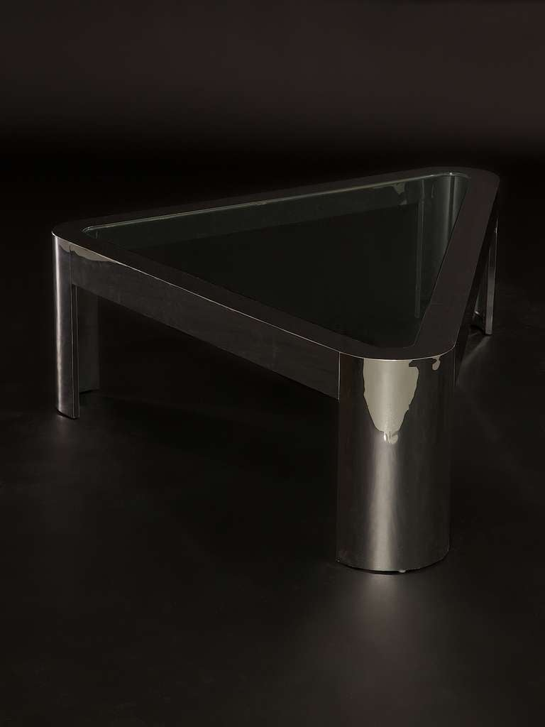 Large and Low Chrome and Glass Pace Coffee Table, circa 1970s 10