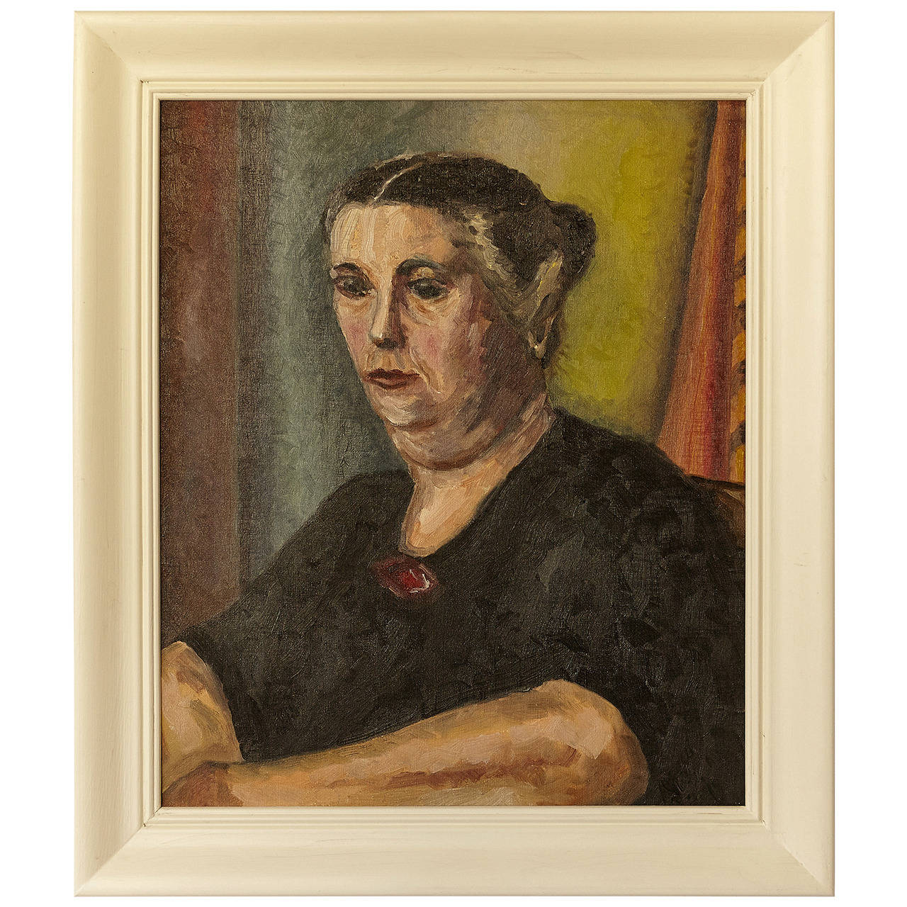 """1948 Raymond Wendell Oil on Canvas Titled """"Mother"""""""