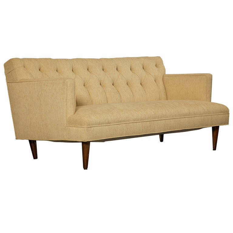 tufted sofa in the spirit of dunbar circa 1960s for sale at 1stdibs. Black Bedroom Furniture Sets. Home Design Ideas