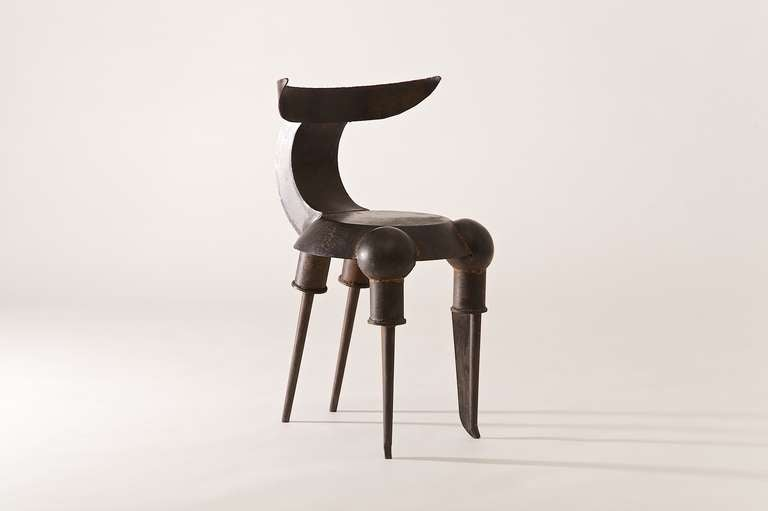 Industrial Tom Dixon Bull Chair, circa 1986 For Sale