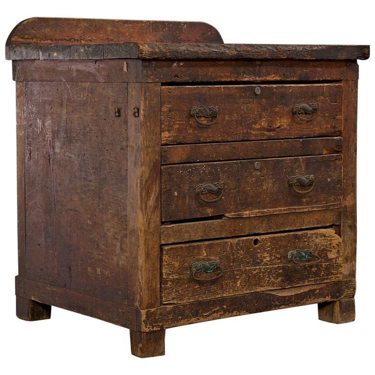 19th century chest with original hardware and deep drawers at 1stdibs. Black Bedroom Furniture Sets. Home Design Ideas