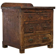 19th Century Chest with Original Hardware and Deep Drawers
