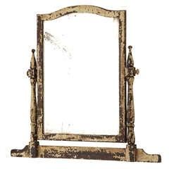 19th Century Pivoting White Painted Mirror