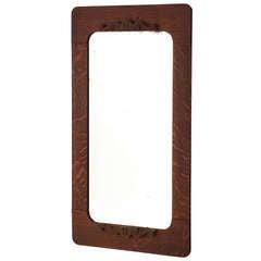 Late 19th Century American Dark Oak Mirror