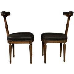 "Spanish ""Matador"" T-Back Chairs, circa 1940s"