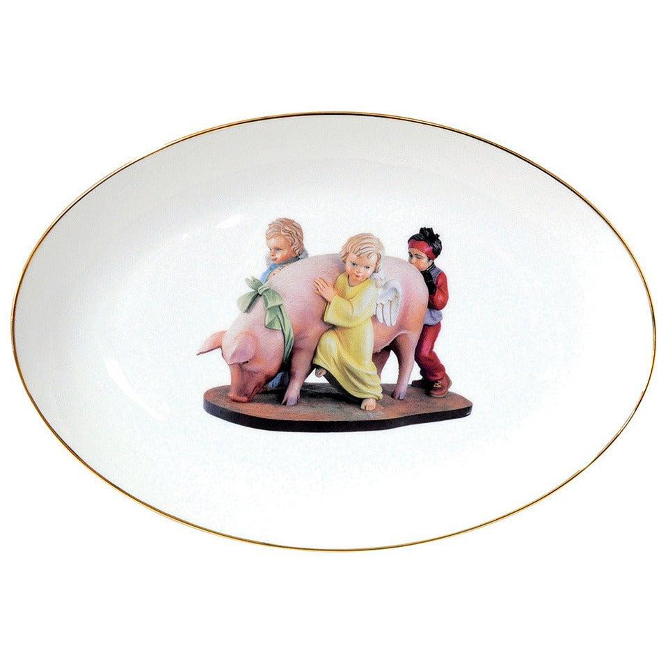 banality platter by jeff koons for sale at 1stdibs. Black Bedroom Furniture Sets. Home Design Ideas