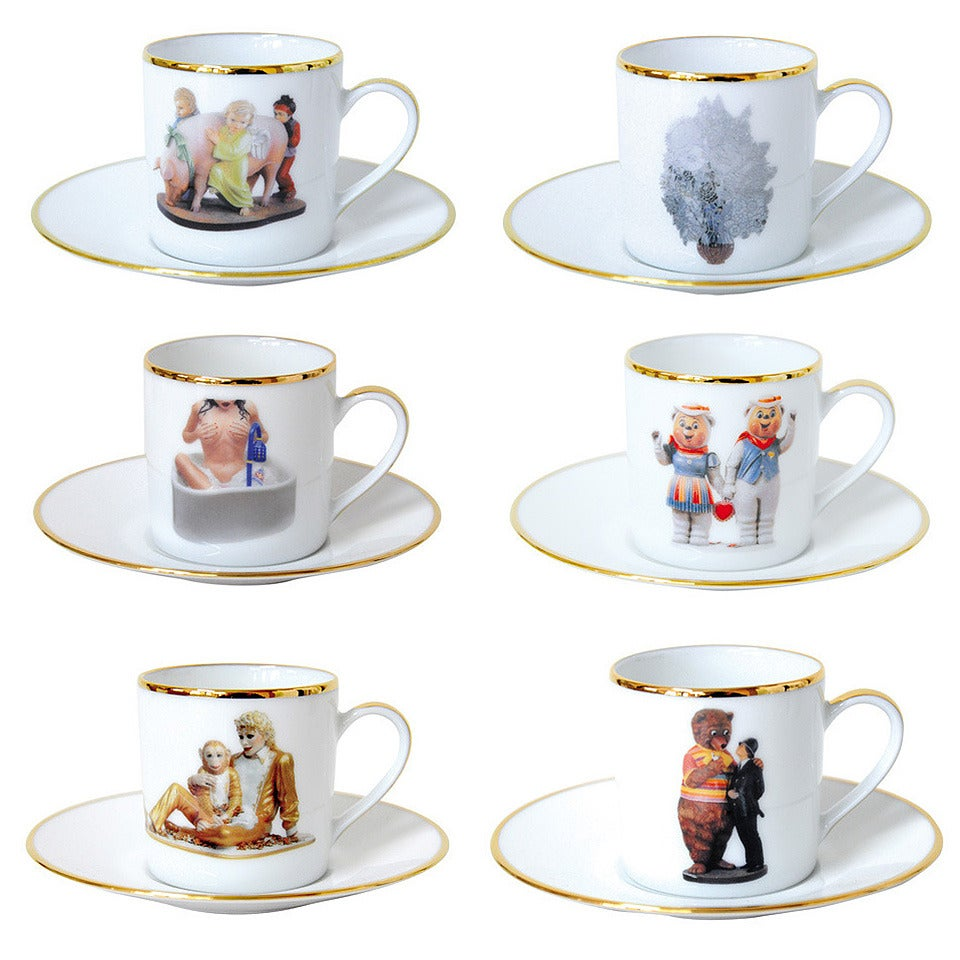Banality Series Ad Cup And Saucer Set By Jeff Koons At 1stdibs