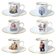 Banality Series AD Cup and Saucer Set by Jeff Koons