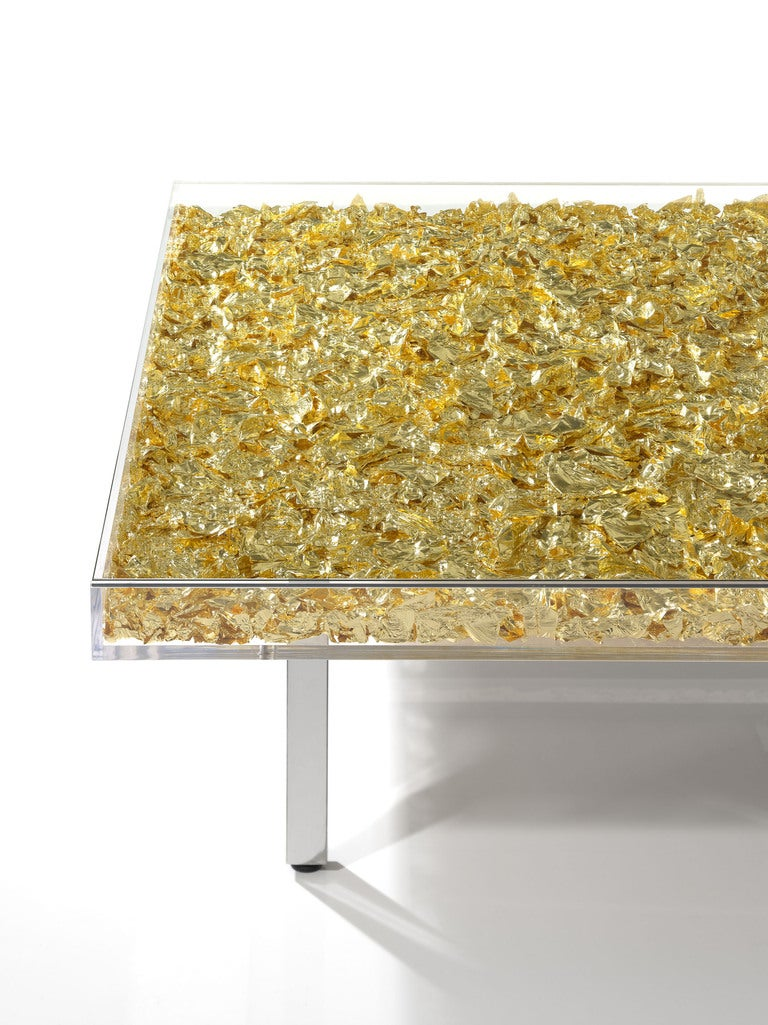 Table in gold by yves klein at 1stdibs for Table yves klein