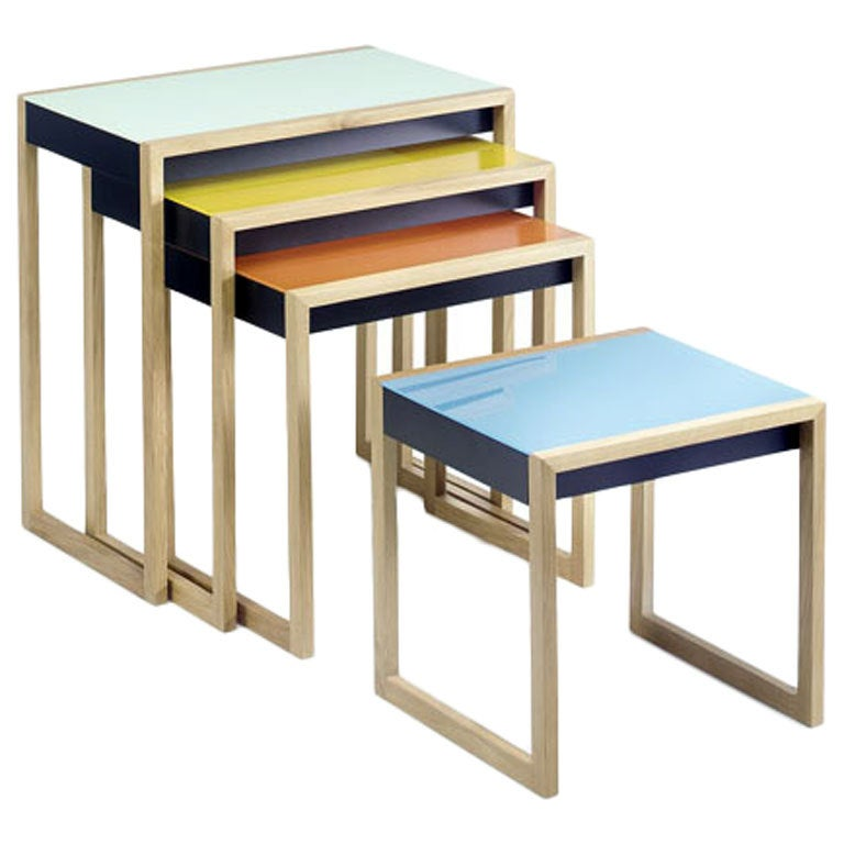 Nesting Tables by Josef Albers For Sale