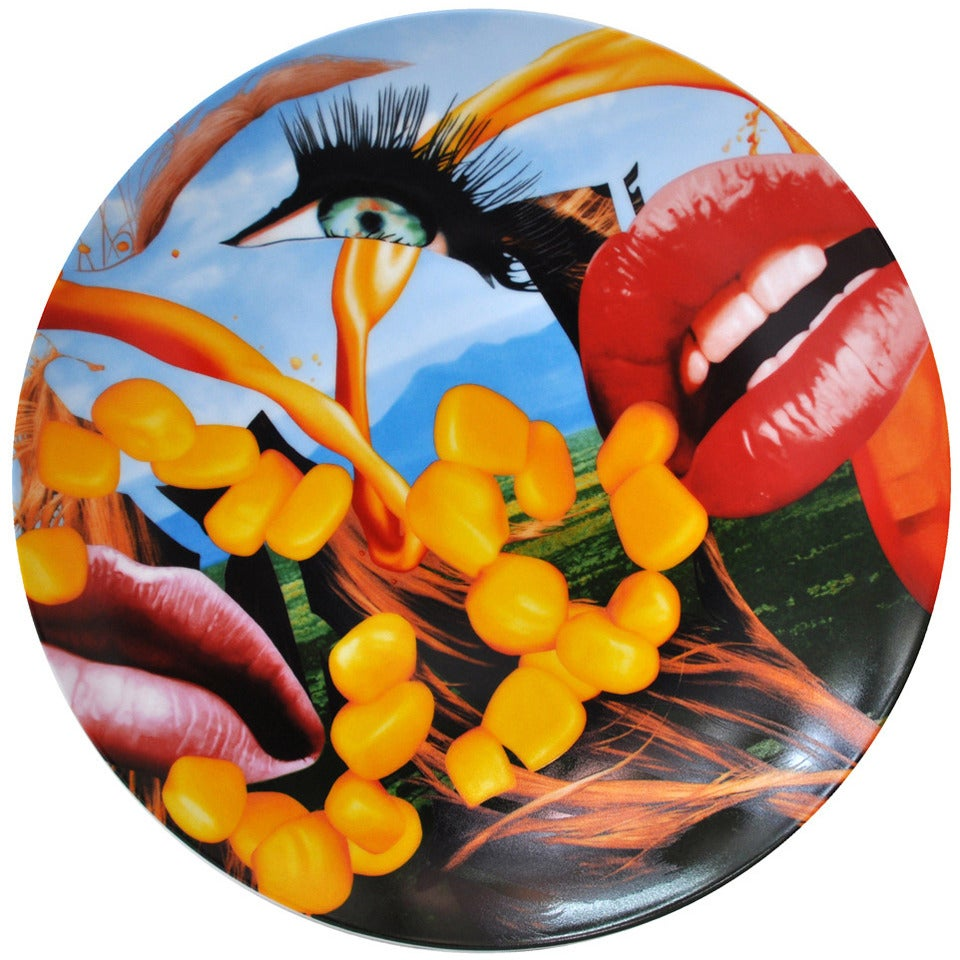 Lips Coupe Plate by Jeff Koons For Sale