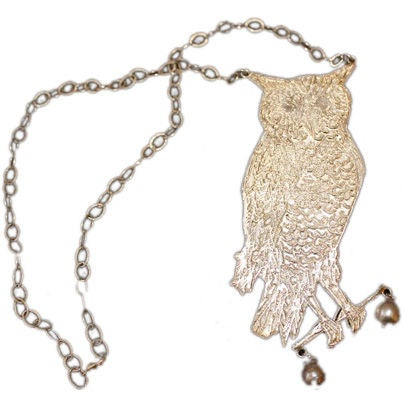 Owl Necklace With Pearls By Kiki Smith 1