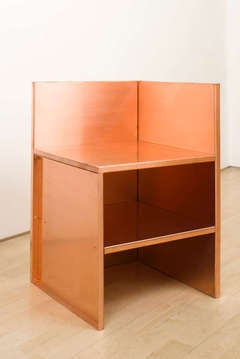 Corner Chair (copper) by Donald Judd