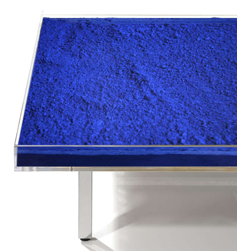 We are the official partner of the Yves Klein Archive and sell authentic, brand new tables directly from the estate in Paris.  Of all the artist-designed furniture from the last century this is perhaps one of the most famous examples. This iconic