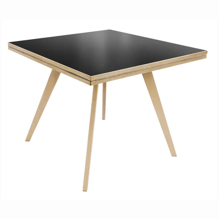 square round table by max bill at 1stdibs. Black Bedroom Furniture Sets. Home Design Ideas