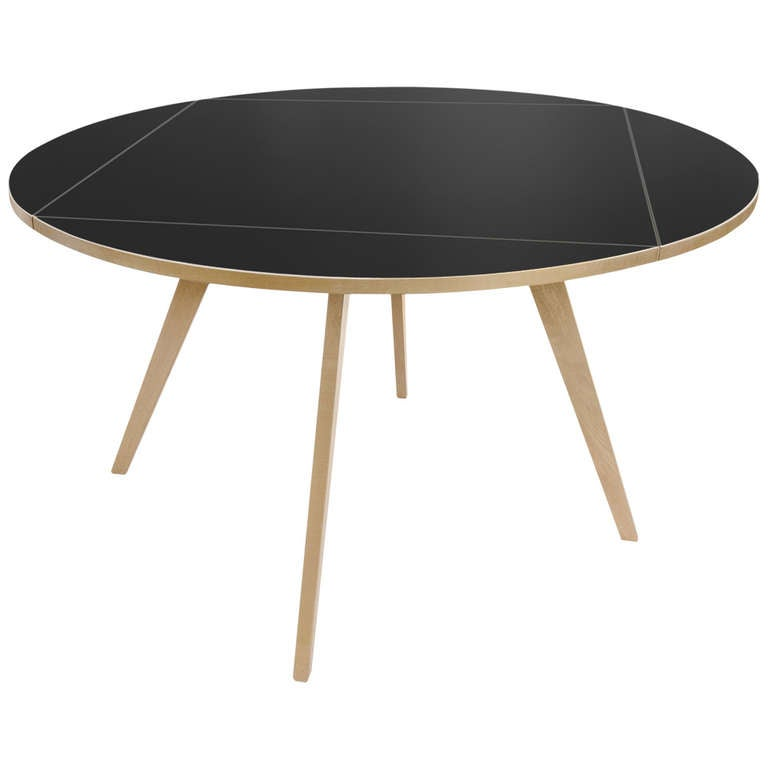 square round table by max bill for sale at 1stdibs. Black Bedroom Furniture Sets. Home Design Ideas