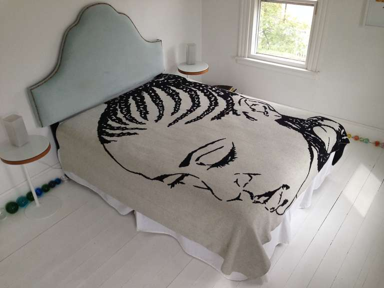Lena Blanket or Throw by Mickalene Thomas In Excellent Condition For Sale In Jersey City, NJ